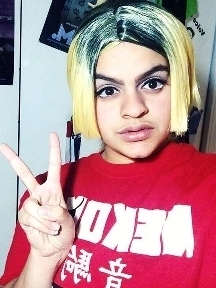 Mya in 2017, doing her first costest of Kenma Kozume from Haikyu!!