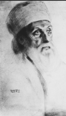 Portrait of 'Abdu'l-Baha by Kahlil Gibran