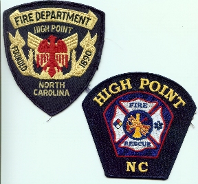 High Point Fire Department patches