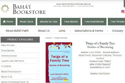 Twigs of a Family on Baha'i Bookstore website