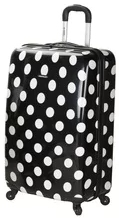 Big polka dot suitcase