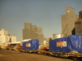 Grain elevators at a transport & milling hub