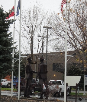 "Havre, MT history - Sculpture representing ""US-Canada Friendship"""