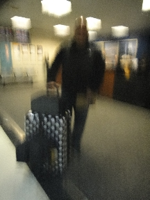 A shot of Rey & luggage showing how blurry everything got