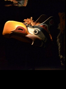 First Nations mask in museum