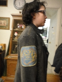 Shoghi wearing his Gallifreyan name patch