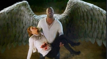 Amenadiel Firstborn with wings unfurled
