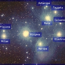 Constellation Pleides plus parents