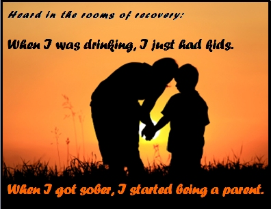 When I was drinking, I just had kids. When I got sober, I started being a parent. #HavingKids #BeingAParent #Recovery