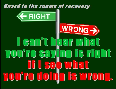 I can't hear what you're saying is right if I see what you're doing is wrong. #Hearing #Seeing #Recovery