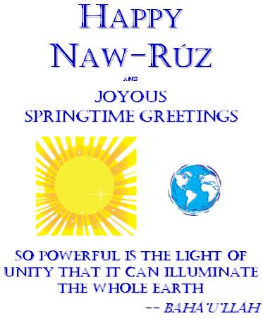 Mya's 2011 Naw-Ruz Greeting