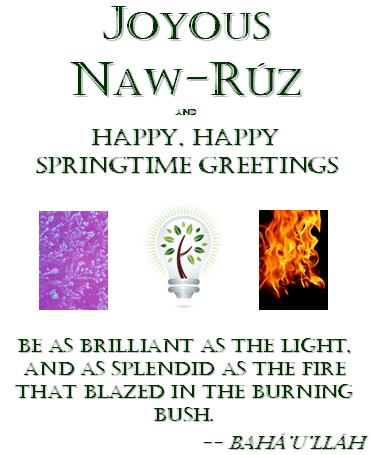 Mya's 2012 Naw-Ruz Greeting