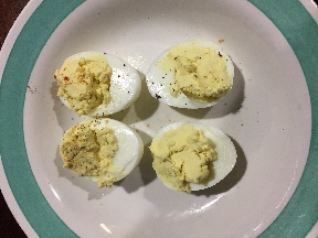 Mya Made Deviled Eggs Today