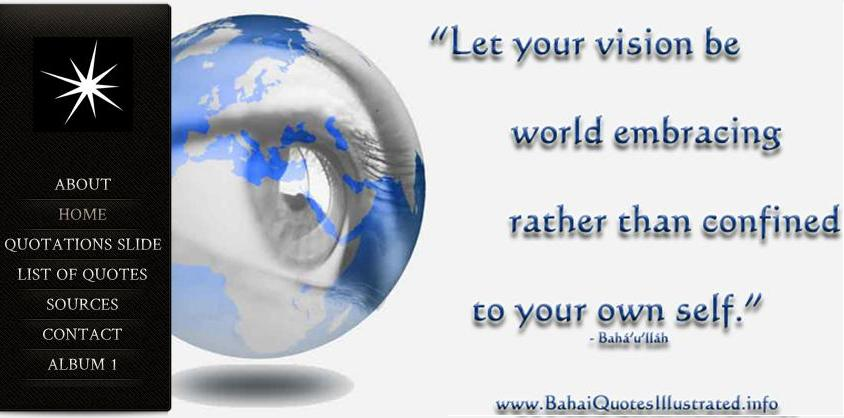 """Let your vision be world embracing"""